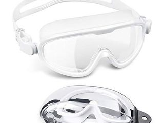 letsfit Swim Goggles  No leaking Anti Fog Indoor Outdoor Swimming Goggles with UV Protection Mirrored Clear lenses for Adult Women Men Youth