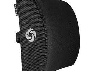 SAMSONITE SA5243   Ergonomic lumbar Support Pillow   Elevates lower Back Comfort   100  Pure Memory Foam   Use in Car or Office Chair   Fits Most Seats   Breathable Mesh   Washable Cover