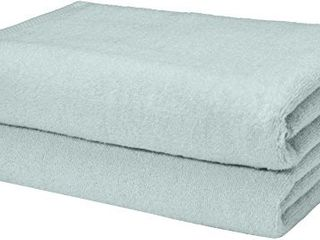 Amazon Basics Quick Dry  luxurious  Soft  100  Cotton Towels  Ice Blue   Set of 2 Bath Towels