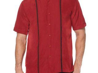Cubavera Short Sleeve Pattern Button Front Shirt Big and Tall