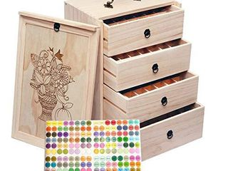 Travel 112 Slot Essential Oil Storage Box   Removable Dividers Fits 5ml  10ml  15ml  30ml Bottles  Tubes  Accessories and More EO Products