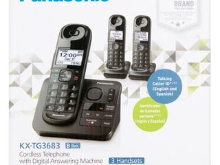 Panasonic Black Cordless Telephone with Digital Answering Machine