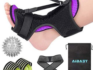 2020 New Upgraded Purple Night Splint for Plantar Fascitis  AiBast Adjustable Ankle Brace Foot Drop Orthotic Brace for Plantar Fasciitis  Arch Foot Pain  Achilles Tendonitis Support for Women  Men