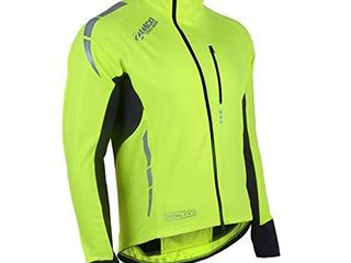 Zimco Pro Men Winter Cycling Jackets High Viz Bicycle Jersey Windproof Thermal Insulated Jacket  Xl  Conmplete Neon
