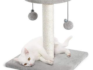 rabbitgoo Cat Scratching Post  17  Cat Tree Small Cat Tower with Sisal   Plush Perch  Cat Scratcher with Hanging Toys  Cat Claw Scratch Post for Indoor Small Cats  Kitten Climbing Pole for Play Rest