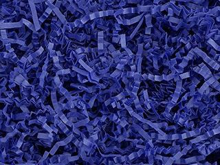 Crinkle Cut Paper Shred Filler  1 lB  for Gift Wrapping   Basket Filling   Royal Blue   MagicWater Supply