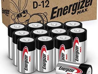 Energizer MAX D Batteries  Premium Alkaline D Cell Batteries  12 Battery Count