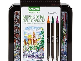 Crayola Brush   Detail Dual Tip Markers  Kids At Home Activities  32 Colors  16 Count