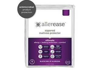 AllerEase Ultimate Protection and Comfort Waterproof  Bed Bug  Antimicrobial Zippered Mattress Protector   Prevent Collection of Dust Mites and Other Allergens  Vinyl Free  Hypoallergenic  Twin Sized