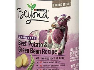 Purina Beyond Grain Free  Natural Pate Wet Dog Food  Grain Free Beef  Potato   Green Bean Recipe    12  13 oz  Cans