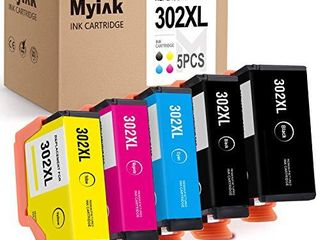 MYIK Remanufactured Ink Cartridge Replacement for Epson 302Xl T302Xl use with Expression Premium XP 6000 XP 6100  Black Cyan Magenta Yellow Photo Black  5 Pack