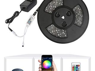 Nexlux lED Strip lights  WiFi Wireless Smart Phone Controlled 32 8ft Waterproof light Strip lED Kit 5050 lED lights Working with Android and iOS System Alexa  Google Assistant