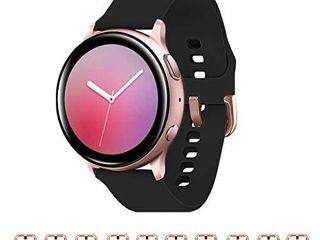 GinCoband 10PCS Bands Replacement for Galaxy Watch Active2  40mm 44mm Galaxy Watch 3  41mm Galaxy Watch Active 40mm Galaxy Watch 42mm 20mm Quick Release with Rose Gold Buckle  10 PACK  Small