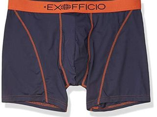 ExOfficio Men s Give n Go Sport Mesh 2 0 Boxer Brief 6  Navy Koi  Medium