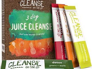 3 Day Juice Cleanse   Just Add Water   Enjoy   21 Single Serving Powder Packets