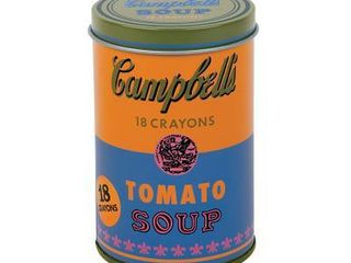 Andy Warhol Soup Can Crayons Orange  General merchandise