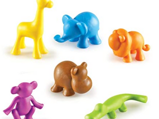 lEARNING RESOURCES  WIlD ABOUT ANIMAlS JUNGlE COUNTERS 72 PIECES 3  AGES