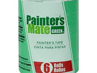 Painter s Mate 668840 Green 8 Day Painting Tape  0 94 Inch by 60 Yard  6 Pack of Rolls