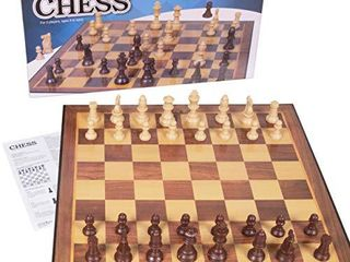Silly Goose Chess Game  Cardboard Folding Chess Set with Plastic Chess Pieces  Board Games
