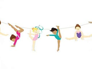 Gymnastics Party   Garland   Gymnast Girls Bunting   Gymnastic Birthday Party Decorations   Gymnastics Party Supply