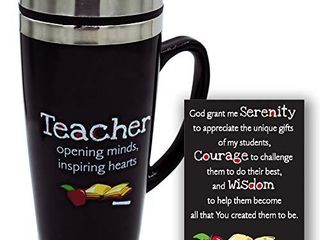 Teachers Travel Mug   Insulated Coffee Thermos with lid  Inspirational Teacher Appreciation Gifts  Gift For Professors  Educators  and Teachers Assistants  7 Inches Tall  16 Ounces