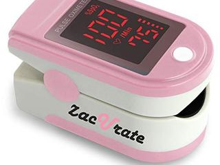 Zacurate Pro Series 500Dl Fingertip Pulse Oximeter and Blood Oxygen Saturation Monitor  Blushing Pink