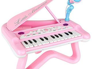 ToyVelt Toy Piano for Toddler GirlsCute Piano for Kids with Built in Microphone   Music Modes   Best Birthday Gifts for 3 4 5 Year Old Girls Educational Keyboard Musical Instrument Toys