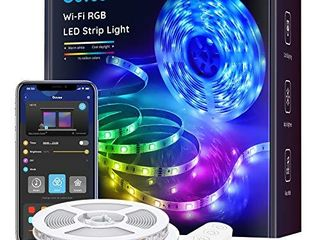 Govee Smart lED Strip lights  32 8ft WiFi lED lights Work with Alexa and Google Assistant  Bright 5050 lEDs  16 Million Colors with App Control and Music Sync for Home  Kitchen  TV  Party
