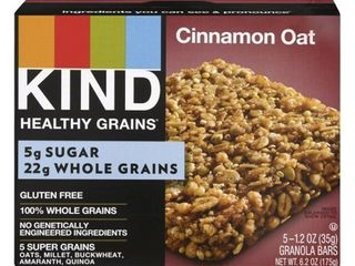 Kind Healthy Grains Cinnamon Oat 5 GRANOlA BARS exp 1 15 2021