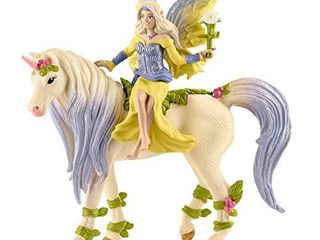 SCHlEICH bayala  3 Piece Playset  Unicorn Toys for Girls and Boys 5 12 Years Old  Fairy Sera with Blossom Unicorn