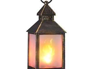 zkee 11  Vintage Style Decorative lantern Flame Effect lED lantern Golden Brushed Black 4 Hours Timer  Indoor lanterns Decorative Outdoor Hanging lantern Decorative Candle lanterns