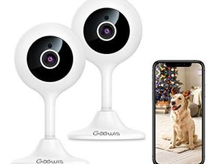 Security Camera Indoor  Goowls 2 Pack 1080p HD 2 4GHz WiFi Plug in IP Camera for Home Security  Baby Dog Pet Nanny Camera Monitor with Motion Detection Night Vision Two Way Audio  Works with Alexa