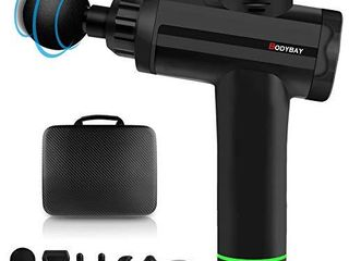 Bodybay Personal Percussion Massage Gun Vibration Deep Tissue Percussion Massager Handheld Deep Muscle Quiet Massager for Athletes Pain Relief and Muscle Recovery