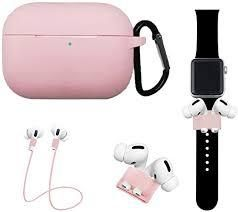 Topetech 4 in 1 Accessory Set for Apple Airpods PRO  Pink