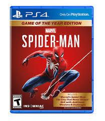 Marvel s Spider Man Game of The Year edition for Playstation 4
