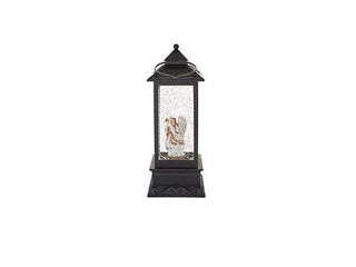 Illuminated Holiday lantern with Timer by lori Grein Snowman