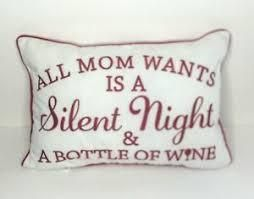 Home Reflections Set of 2 Affirmation Holiday Pillows Wine Night