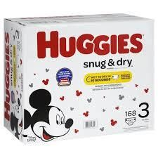 Huggies Snug   Dry Diapers  Size 3  50 Count