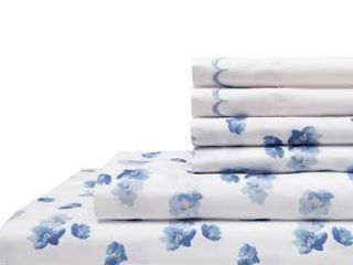 Spring Meadow Print  Embroidered Queen Sheet Sets Bedding