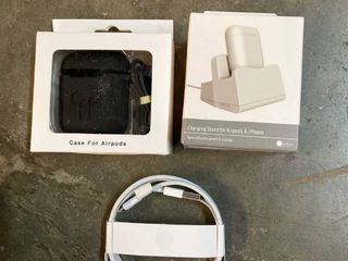 lot of Miscellaneous AirPod Accessories  Charger  Case  Charging Stand