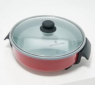 Cook s Essentials 12  Forged Aluminum Skillet  Red