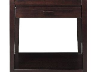 Casual Home Notre Dame Nightstand with USB Port  Espresso