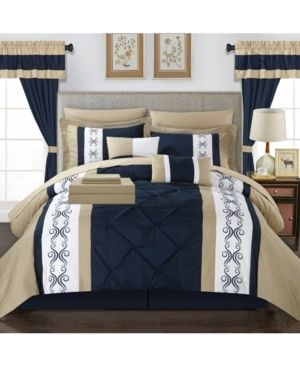 Chic Home Icaria 20 Piece King Bed In a Bag Comforter Set Bedding