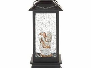 Illuminated Holiday lantern with Timer by lori Greiner Angel