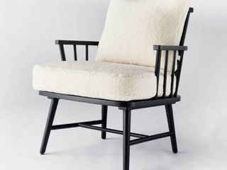 Taylorsville Spindle Knockdown Accent Chair Sherpa Black   Threshold designed with Studio McGee