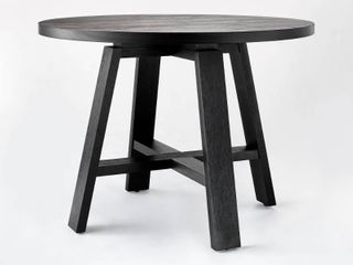 42  linden Round Wood Dining Table Black   Threshold designed with Studio McGee
