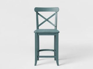 24  litchfield X Back Counter Height Barstool Teal   Threshold