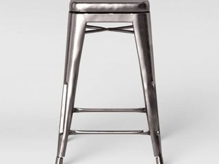 Carlisle Backless Swivel 1 Counter Height Barstool Silver   Threshold