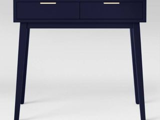 Hafley Two Drawer Console Table Oxford Blue   Project 62
