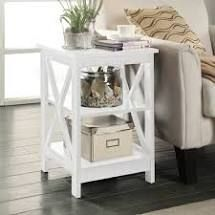 Owings Two Shelf X  Design Accent Table White   Threshold